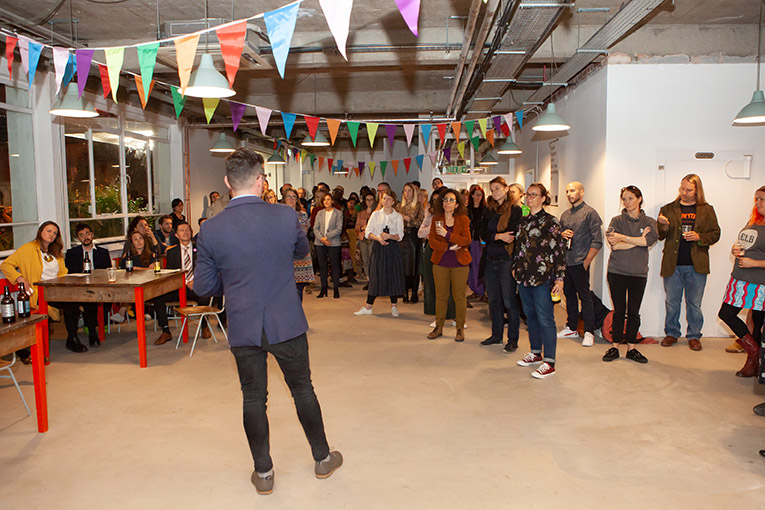 Launch event at switchboard studios