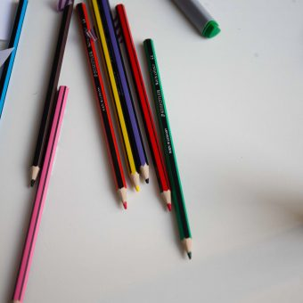 Image of pencil on table