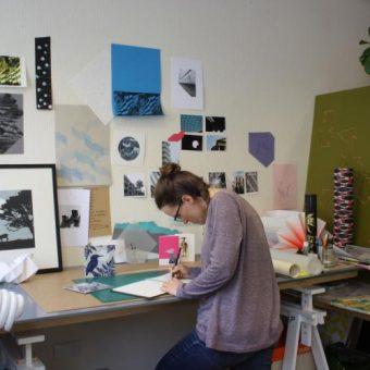 Interior of an artists studio