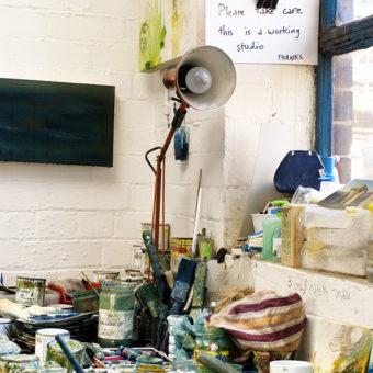 Image of interior of artists studio by Kevid Clifford