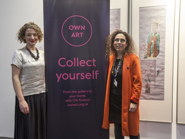 Mary-Alice Stack & London Art Fair Director, Sarah Monk