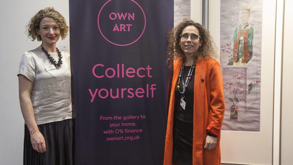 Mary-Alice Stack & London Art Fair Director, Sarah Monk