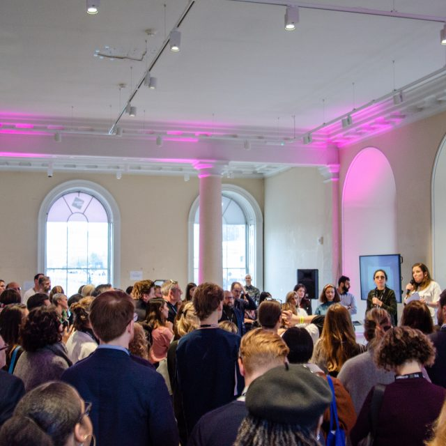 Image of people at the Unconference at Somerset House