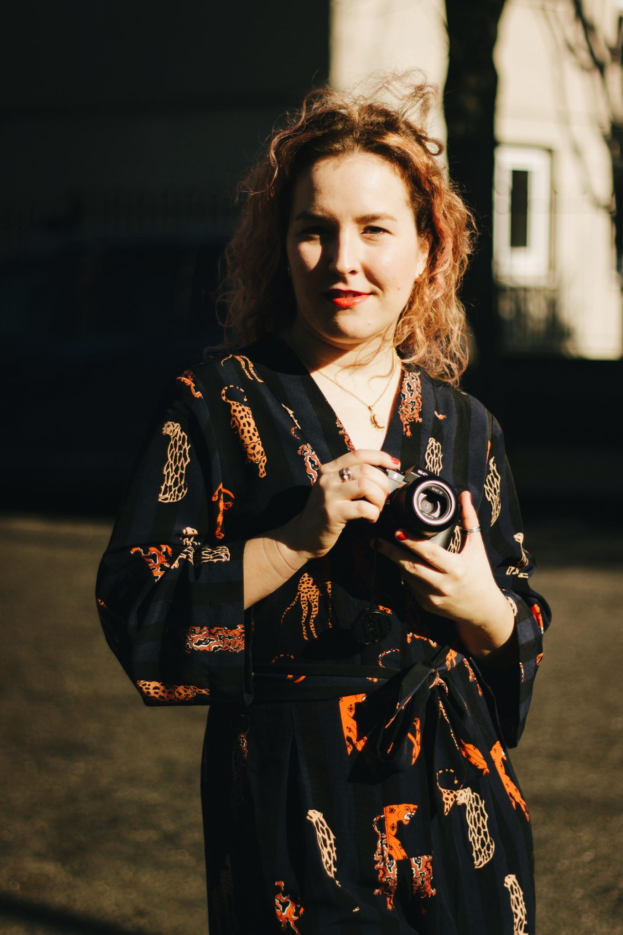 Photo of Martyna with her camera