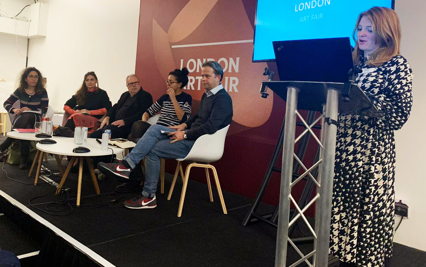Panel discussion at the London Art Fair
